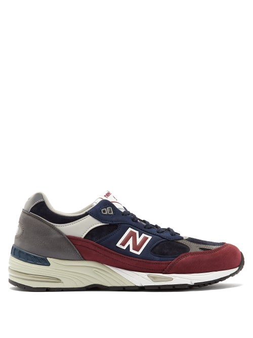 New Balance - Made In England 991 Leather Trainers - Mens - Multi