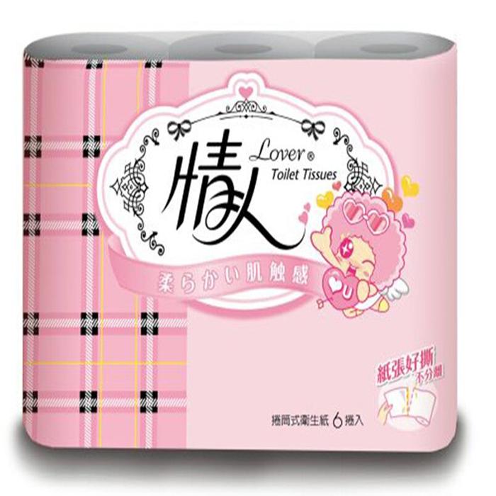 情人小捲筒衛生紙(240組/6捲/10串/箱)