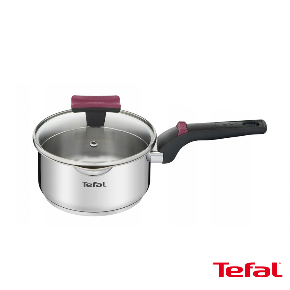Tefal法國特福 香頌不鏽鋼系列聰明瀝水16CM單柄湯鍋(加蓋) SE-G7232274