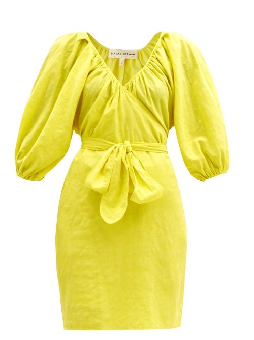 Mara Hoffman - Coletto Organic-cotton-blend Wrap Dress - Womens - Yellow