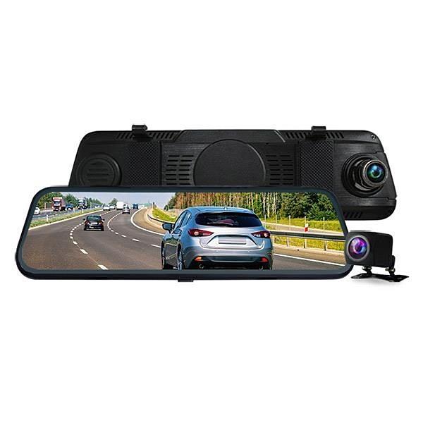 【南紡購物中心】CARSCAM行車王 CR14 全螢幕電子式觸控1080P後視鏡行車記錄器