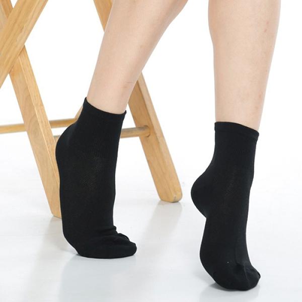 【南紡購物中心】【KEROPPA】可諾帕網狀造型1/2加大短襪x4雙(男女適用)C97006-X黑色