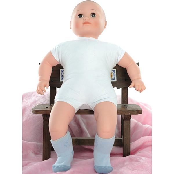 【南紡購物中心】【KEROPPA】MIT0~6個月嬰兒厚底止滑1/2短襪x3雙(淺藍配藍)95001-D