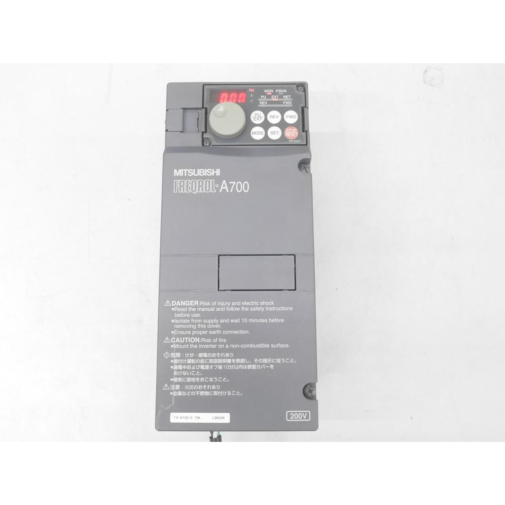 (HLFA-SAM) 三菱 FR-A720-0.75K 1HP 變頻器 VFD 馬達 轉速 調整 轉速控制