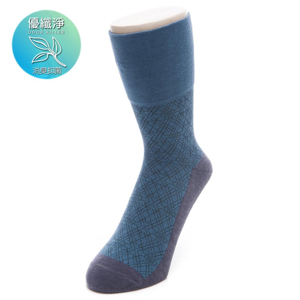 優纖淨紳士無痕中筒襪(男298730337)