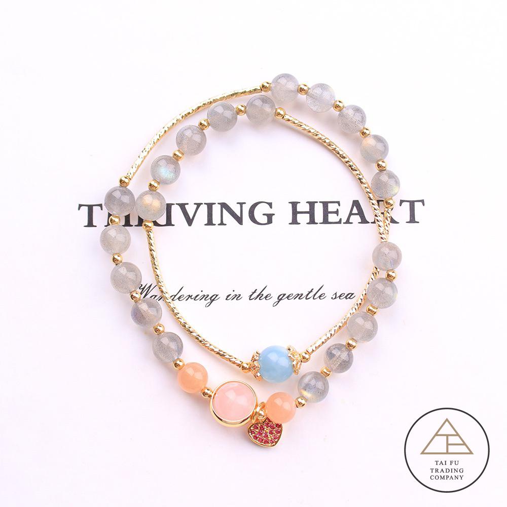 【開運價 任選2條特價↘1380】Tai Fu ◆ 愛心 ◆ Handmade Crystal ◆ ins風水晶手鍊