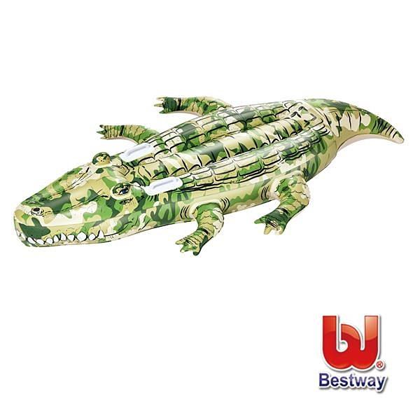 【南紡購物中心】Bestway。鱷魚助浮充氣坐騎41090