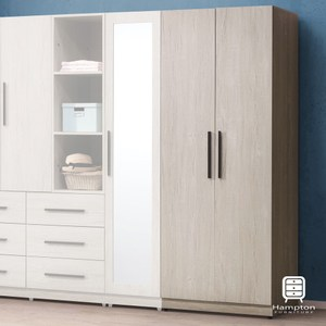 【Hampton 漢汀堡】贊娜淺橡色2.5尺衣櫥