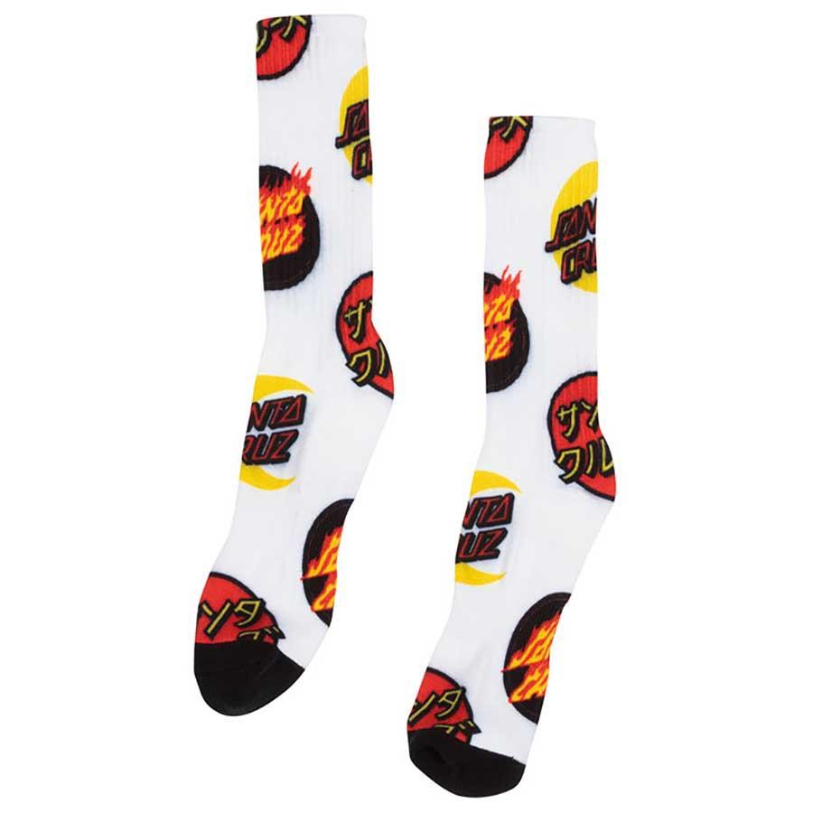 Santa Cruz - 44642794-GRD DOT GROUP CREW SOCKS 中筒襪 小腿襪 (灰色)