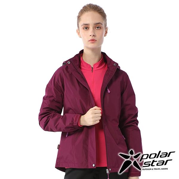 【PolarStar】女 防風內刷毛保暖外套『暗紫』P20202 休閒 戶外 登山 吸濕排汗 冬季 保暖 禦寒