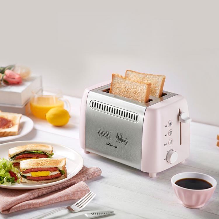 (新品免運·八五折)麵包機 DSL-A02E3多士爐烤面包機不銹鋼吐司機6檔多功能早餐機