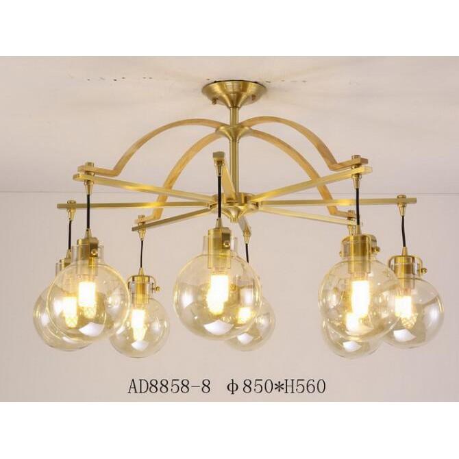 吸頂燈吊燈法式藝術銅燈新北歐銅燈燈具客廳燈簡約燈特價燈古典燈