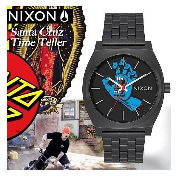 【南紡購物中心】NIXON x Santa Cruz Time Teller聯名限定街頭潮流腕錶A045-2894