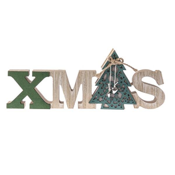 聖誕字木片擺飾-聖誕樹