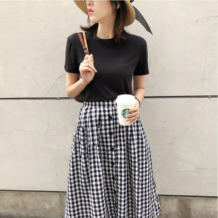 【missy shop】7色涼感圓領 / V領柔棉T恤