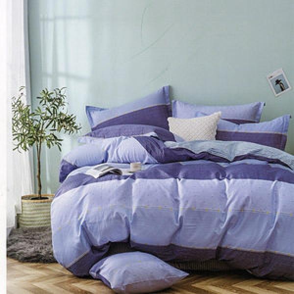 BEDDING-純棉全鋪棉四件式兩用被床包組-喬伊(雙人)