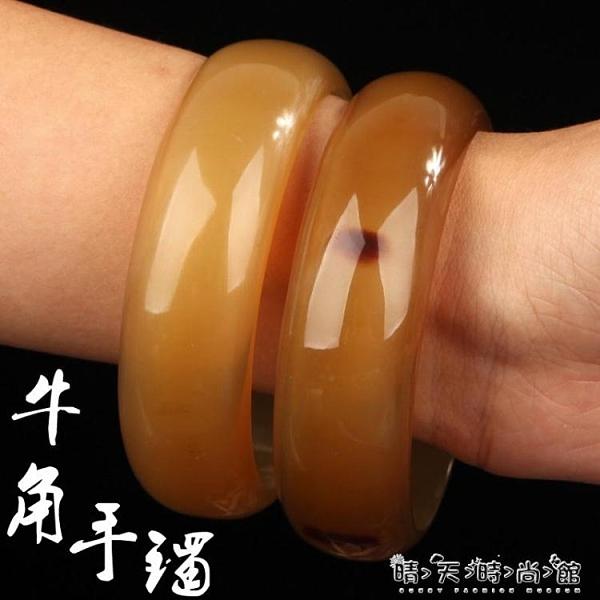 正宗牦牛角手鐲天然涼血養生清熱手環手串西藏民族風男女情侶鐲子 聖誕節全館免運