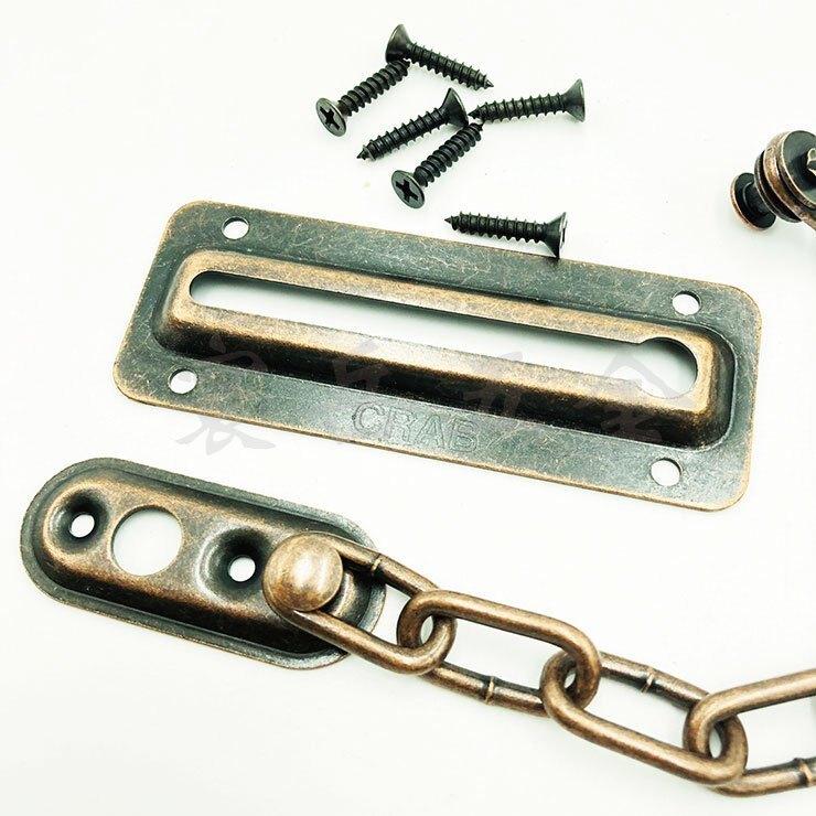古銅色 防盜大門扣 門扣 安全鍊 防盜鍊 門栓 防盜鍊條