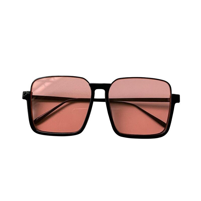 韓版個性網紅款超大框方框眼鏡女潮百搭街拍墨鏡圓臉顯臉小太陽鏡 微愛居家