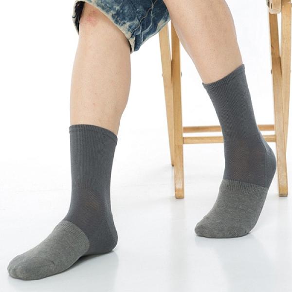 【南紡購物中心】【KEROPPA】可諾帕寬口竹碳運動襪x3雙(男女適用)C98003深灰配灰