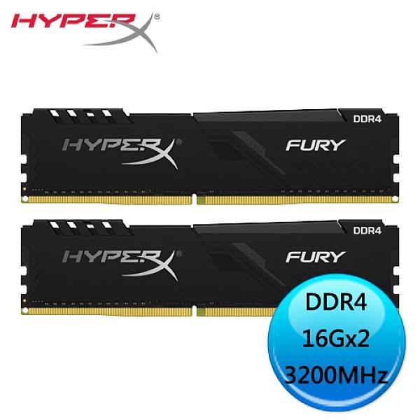 Kingston 金士頓 HyperX FURY DDR4 3200MHz 32GB (16GBx2) 記憶體 HX432C16FB4K2/32 限九代以上CPU
