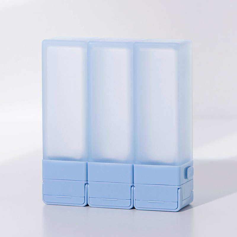 Suzzi 積木旅行分裝瓶 尼斯藍L 100ml - 三件旅行組