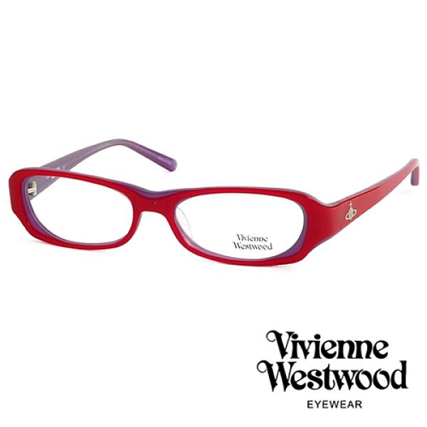 【南紡購物中心】Vivienne Westwood 薇薇安.魏斯伍德 經典LOGO造型光學眼鏡(紅色) VW17604