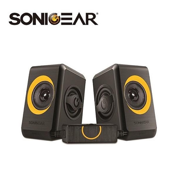 【南紡購物中心】【SonicGear】quatro2強效低頻振膜 多媒體音箱_黑橘OR