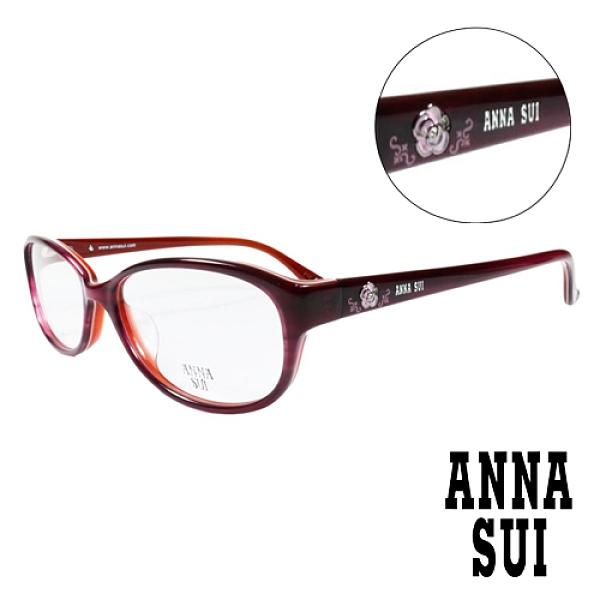 【南紡購物中心】ANNA SUI 經典薔薇造型眼鏡(紅色)AS620-209