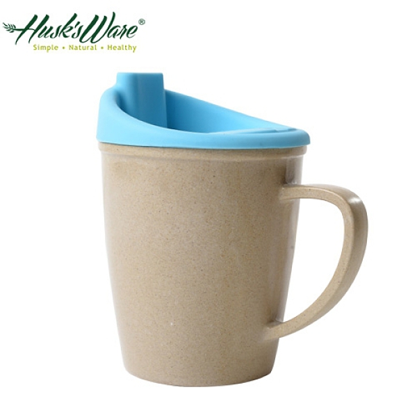 【南紡購物中心】【美國Husk's ware】稻殼天然無毒環保兒童水杯-藍色