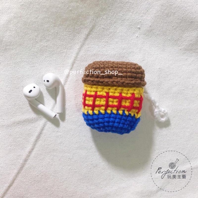 玩具總動員 胡迪 胡迪警長 Airpods & pro保護套(內含矽膠套) 針織保護套 針織耳機套 耳機保護套 玩美主