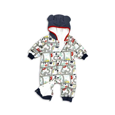 Disney baby 米奇道路街景造型連身衣-印圖(6M/12M)