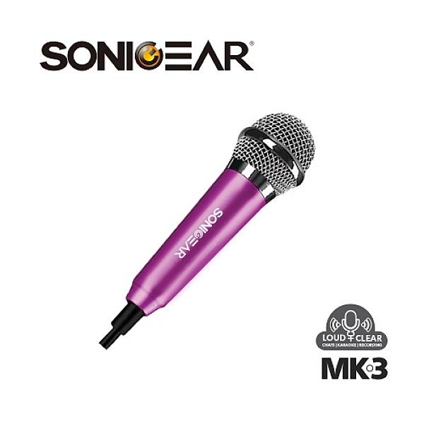 【南紡購物中心】【SONICGEAR】MK-3 迷你收音麥克風_Pink玫瑰紅