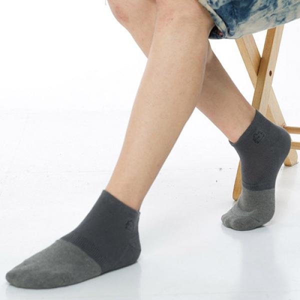 【南紡購物中心】【KEROPPA】可諾帕竹碳氣墊短襪(男女適穿)x3雙C90016-深灰