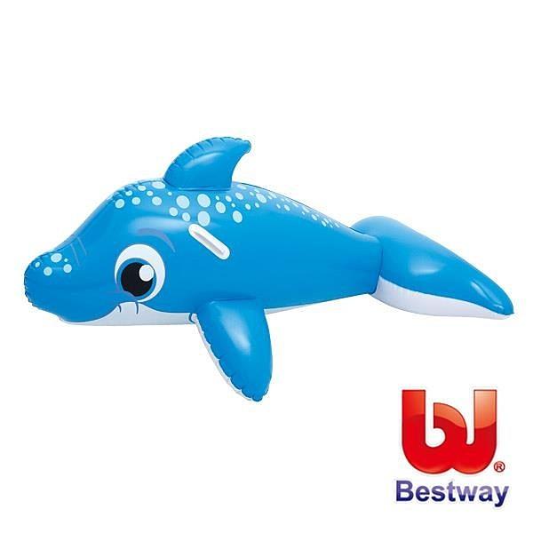 【南紡購物中心】Bestway。62X35吋可愛充氣海豚坐騎