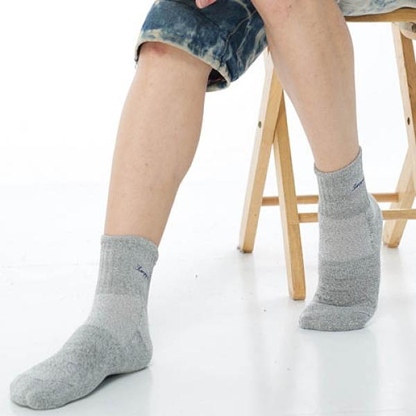 【南紡購物中心】【KEROPPA】長纖竹炭運動1/2短襪(男女適穿)*2雙C90018-灰