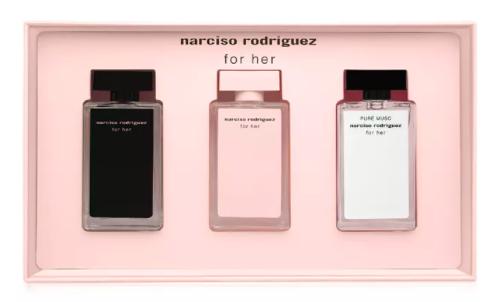 超取499免運   【預購】女性淡香水 麝香 7.5ML-  Narciso Rodriguez Deluxe Mini Coffret Set「迷你試香禮盒」3件組   超取499免運