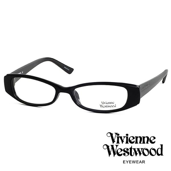 【南紡購物中心】Vivienne Westwood 薇薇安.魏斯伍德 個性簡約光學眼鏡(黑色) VW19201