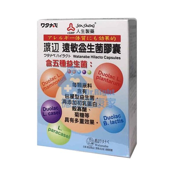 人生製藥 渡邊 遠敏益生菌膠囊 60錠/瓶◆德瑞健康家◆