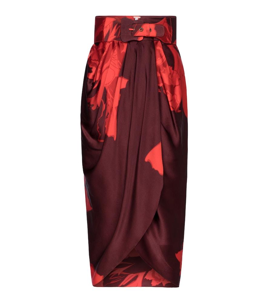 Noches En Desvelo silk wrap skirt