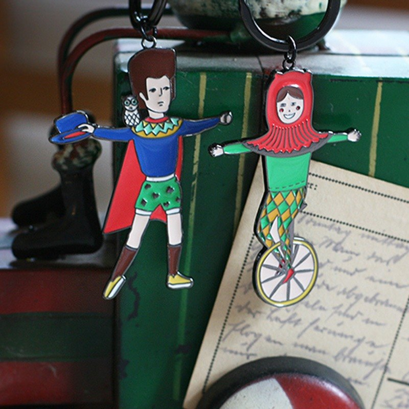U-PICK原品生活 原创马戏团系列钥匙扣-露西/爱德华 男朋友生日礼