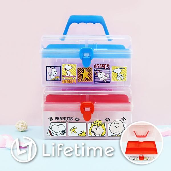 ﹝史努比手提置物盒﹞正版 置物盒 工具箱 手提箱 收納 SNOOPY〖LifeTime一生流行館〗