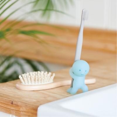 Smiski 不可思議的夜光精靈-療癒牙刷架(力大無窮)