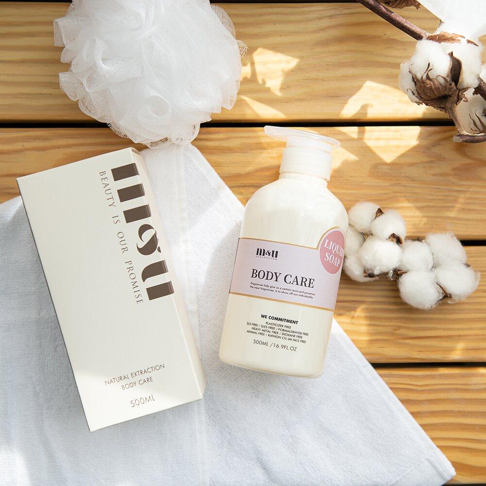M&U沐浴系列 水潤透亮-清新花果 液體皂500ml
