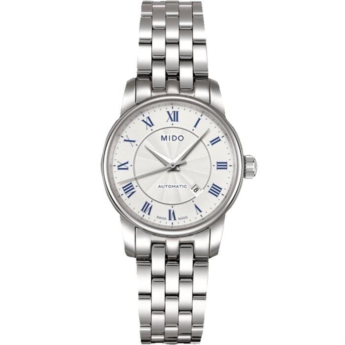 Mido 美度錶 M76004211 Baroncelli系列瑞士簡潔內斂機械腕錶/白 29mm
