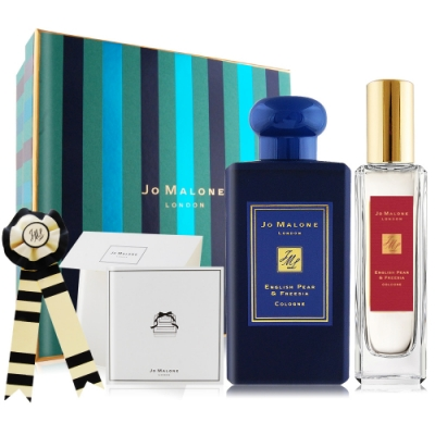 *Jo Malone 最愛英國梨聖誕限量香水禮盒[午夜藍版X新年限定版](附原廠掛飾+卡片組)
