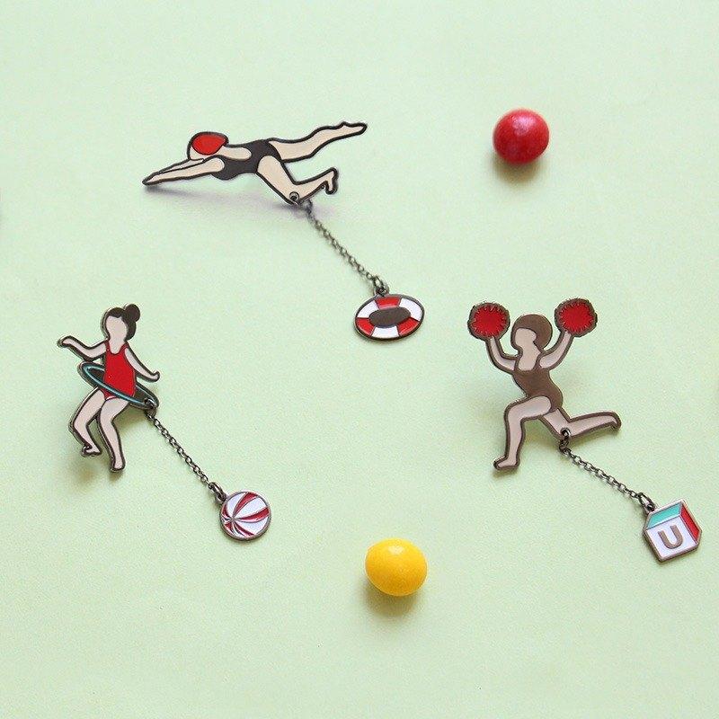 U-PICK原品生活 呼啦啦系列胸针 原创可爱领针女士胸针领口衬衫