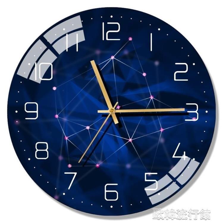 【快出】掛鐘 大理石北歐現代靜音掛鐘客廳錶家用時鐘創意時尚簡約大氣輕奢壁鐘