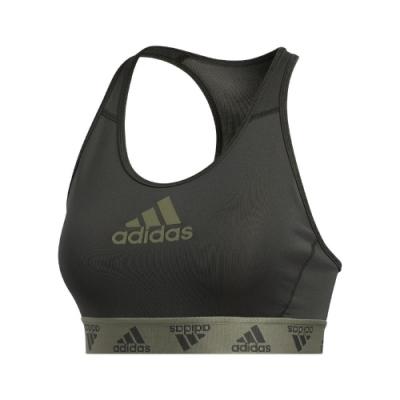 adidas 運動內衣 DontRest Alphaskin 女款 愛迪達 中度支撐 健身 重訓 瑜珈 登山 綠 黑 GC8177