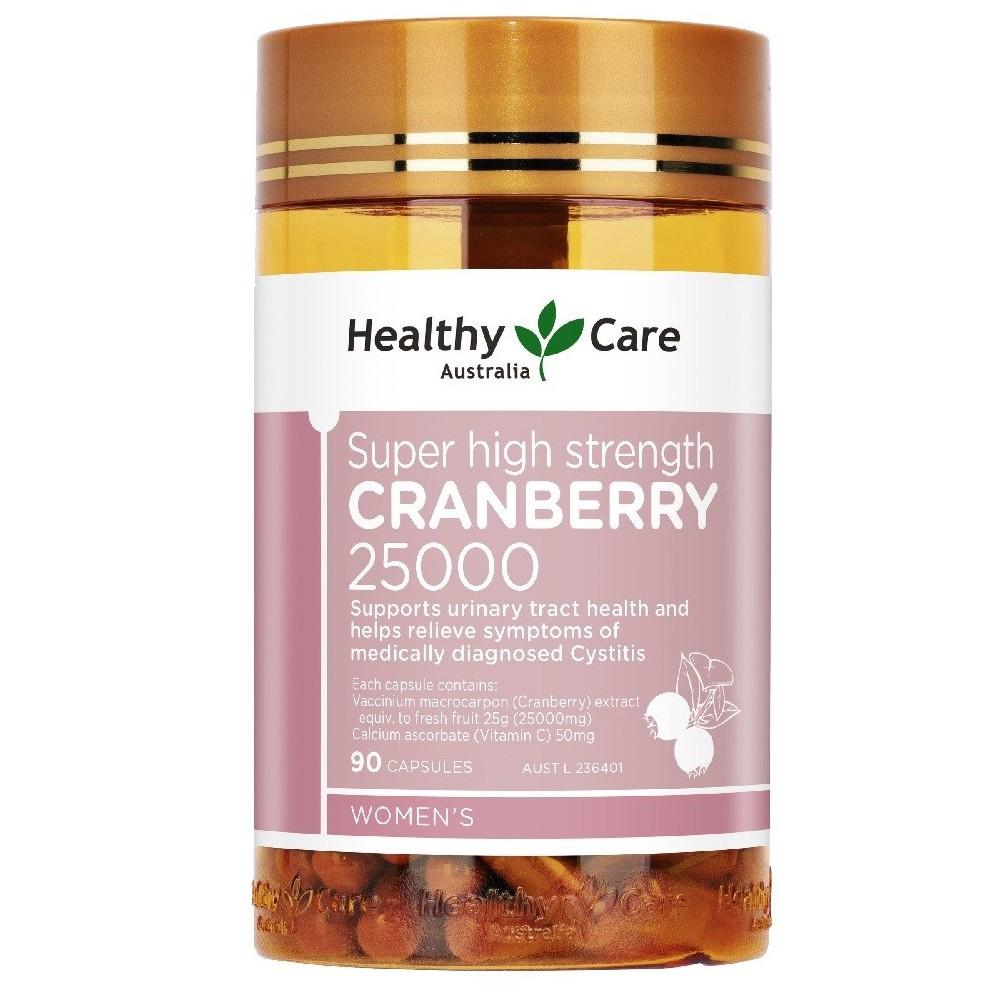 Healthy Care 澳洲蔓越莓加強型膠囊 25000mg/90粒1瓶 【澳洲晶艷】